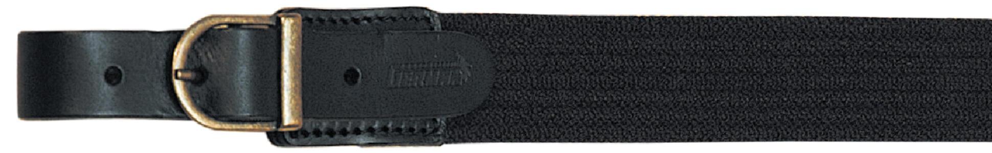 Bretella per fucile in tessuto elastico rigato colore nero mm.30