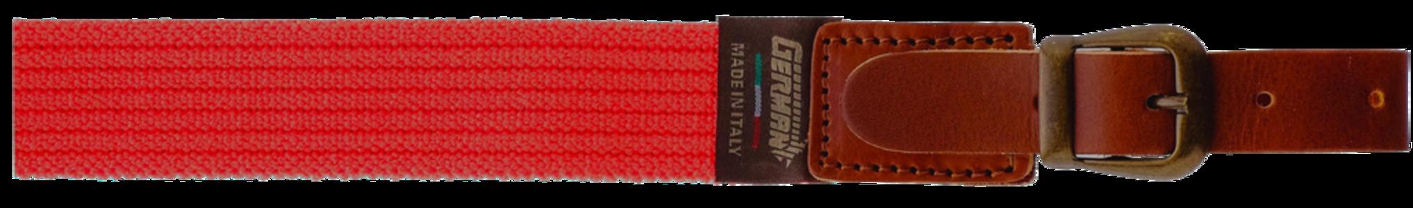 Bretella per fucile in tessuto elastico rigato colore arancio fluo mm.30