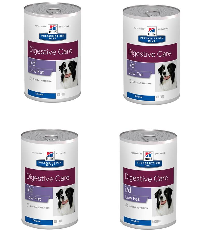 12 Lattine Hill's i/d Low Fat Digestive Care Cibo Umido Per Cani Gastrointestinal