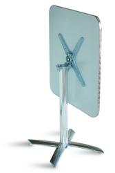 Tavolo Bar professionale quadrato 70 x 70 PIEGHEVOLE in alluminio e acciaio 1 gamba TC14
