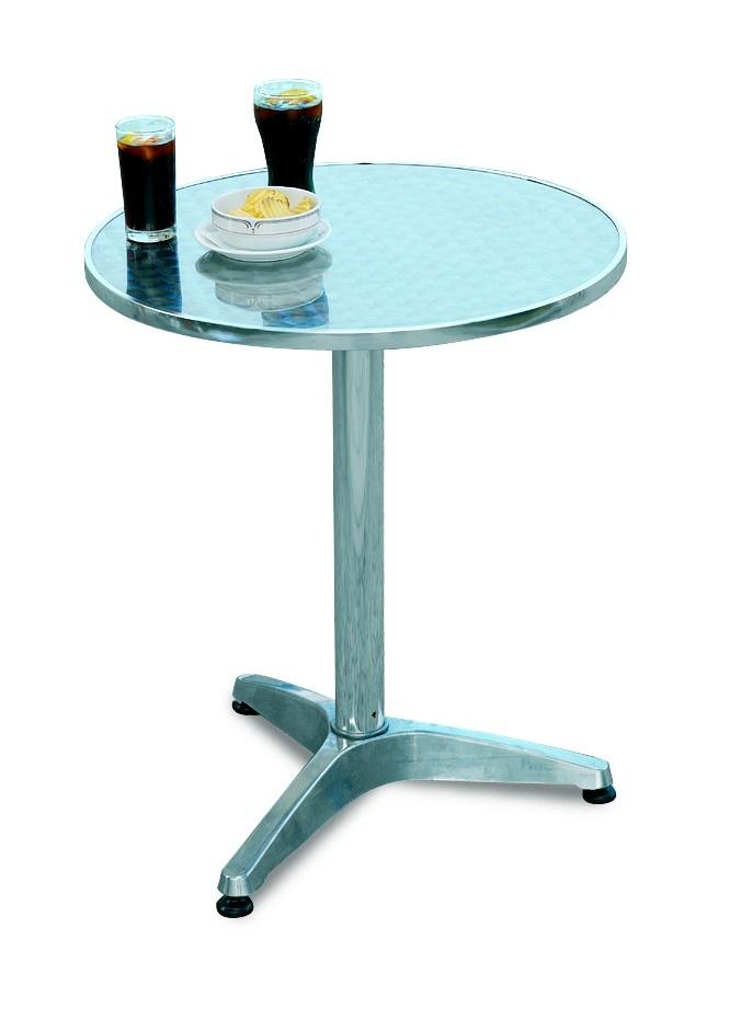 Tavolo Bar professionale rotondo diametro 60 in alluminio e acciaio ...