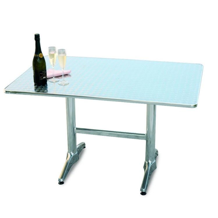 Tavoli Per Bar Da Esterno.Tavolo Bar Professionale Rettangolare 70 X 110 In Alluminio E