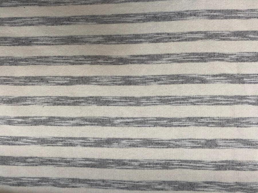 Tessuto felpa non garzato di cotone a righe