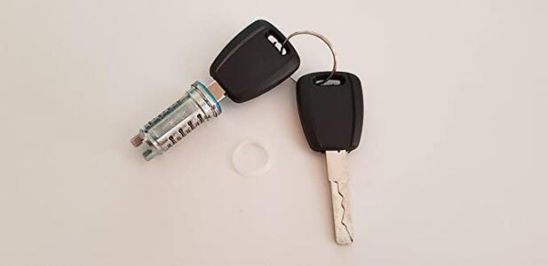 Cilindro Serratura Porta Esterna Con 2 Chiavi Fiat Punto 188 dal 1999 al 2010