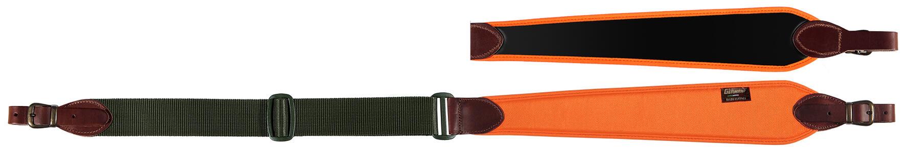 Bretella per carabina registrabile cm. 90>110 colore arancio fluo