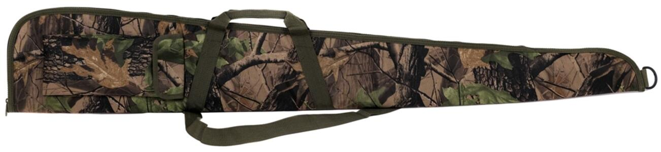 Fodero per fucile in tessuto di poliestere 600 D mimetico con cerniera cm.130 e 140