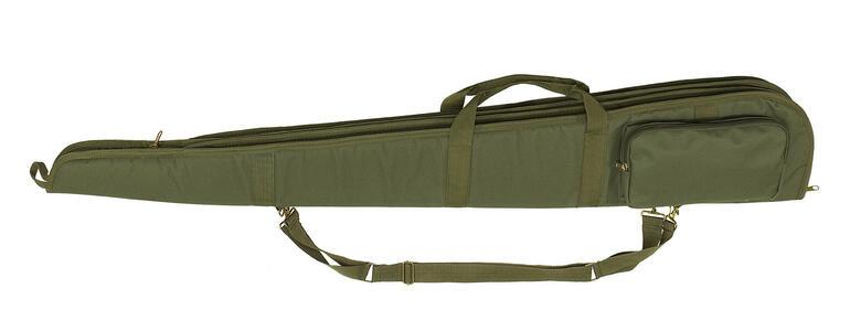 Fodero doppio per due fucili in tessuto di poliestere 600 D verde militare con cerniera cm.130