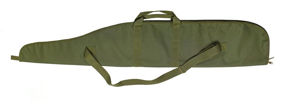 Fodero per carabina con ottica in tessuto di poliestere 600 D verde militare con cerniera cm.130