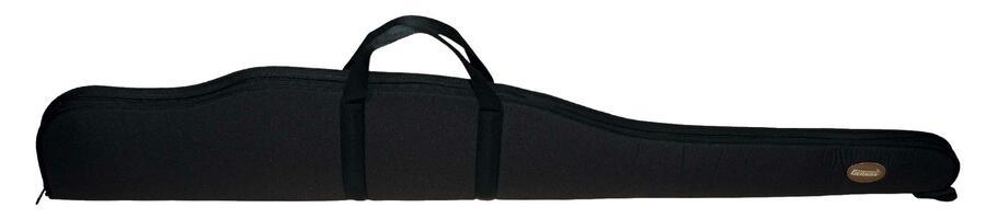 Fodero per carabina con ottica in tessuto di poliestere 600 D nero con cerniera fino alla punta cm.115 -130