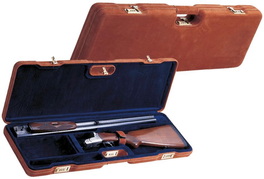 Valigia in ABS per fucile doppietta o sovrapposto in pelle cm.79,5X24X7,5