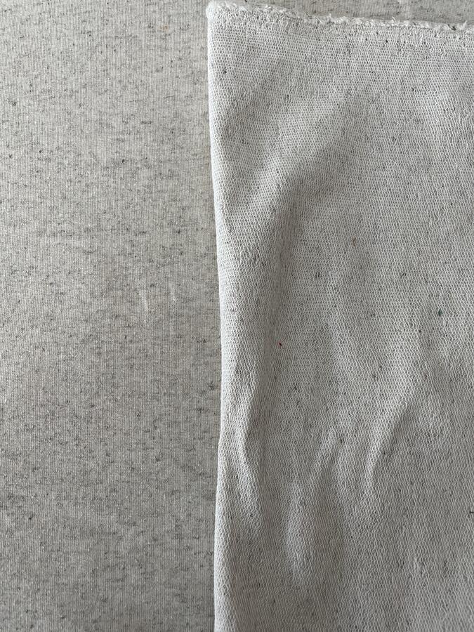 Tessuto felpa non garzato di cotone