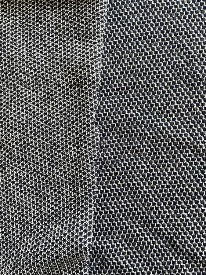 Piquet di cotone elasticizzato blu scuro