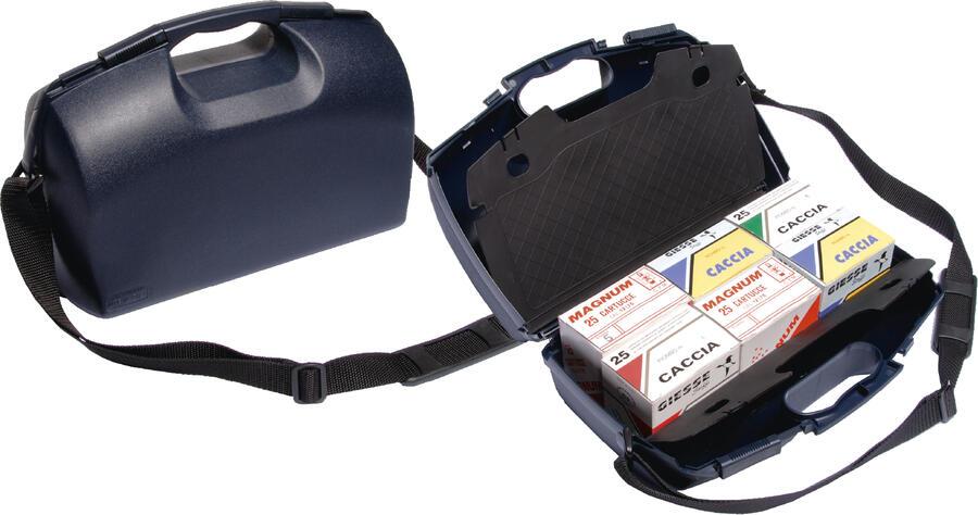 Valigetta per 150 cartucce con scomparto per accessori completa di tracolla