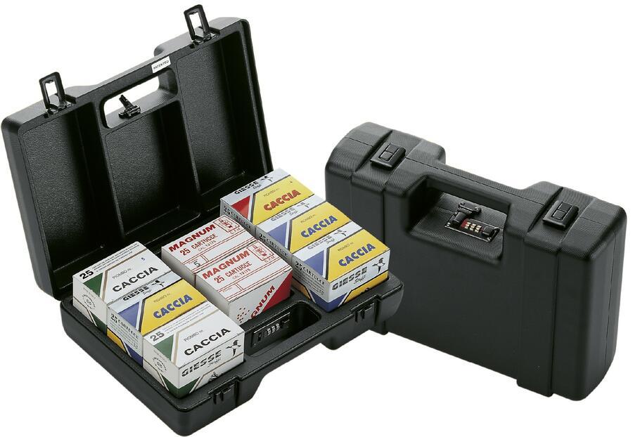 Valigetta in ABS per 200 cartucce con combinazione