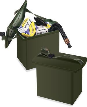 Bauletto porta cartucce ad uso sedile, dimensioni: cm.30x20x27h