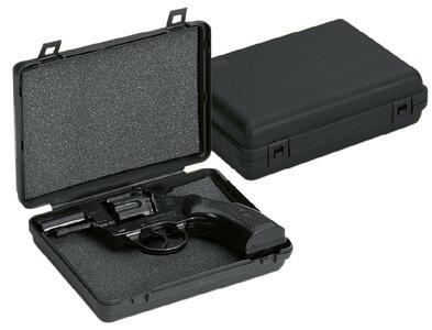 Astuccio in polipropilene con spugnetta liscia per piccole pistole cm.15,5x11x4,6
