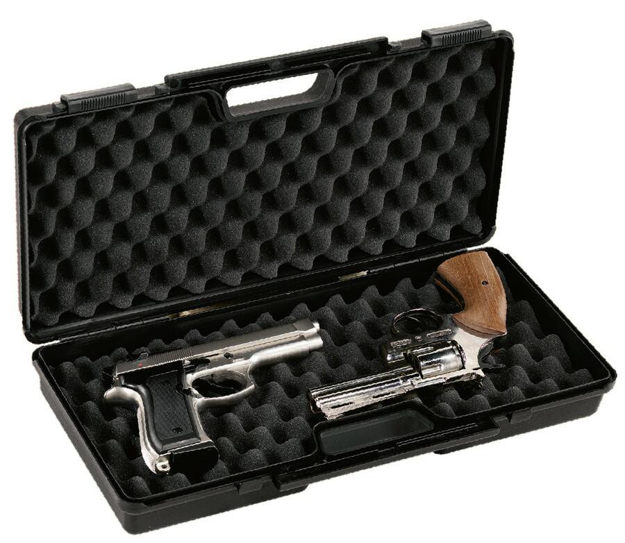 Valigetta in polipropilene per pistole con spugna bugnata cm.44x19x8