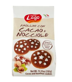 Frollini Cacao e Nocciole 350 gr Lago