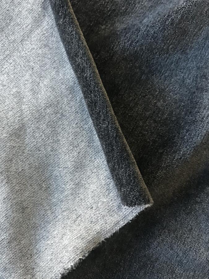 Velluto elasticizzato grigio