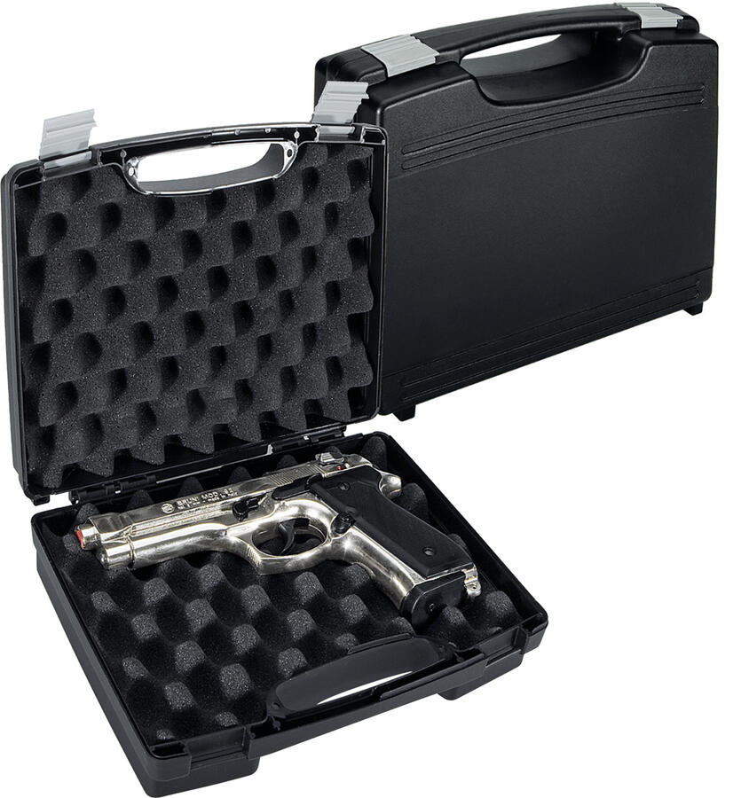 Valigetta  in polipropilene per pistole con spugna bugnata cm.25x18x7,5