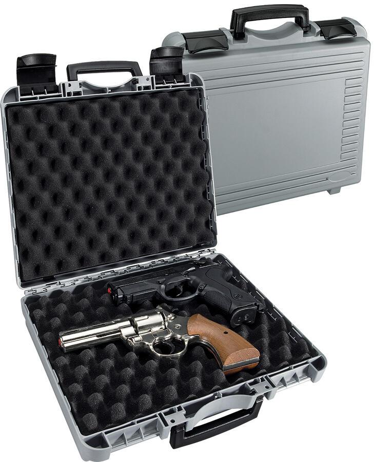 Valigetta  in polipropilene per pistole con spugna bugnata cm.33x26x9