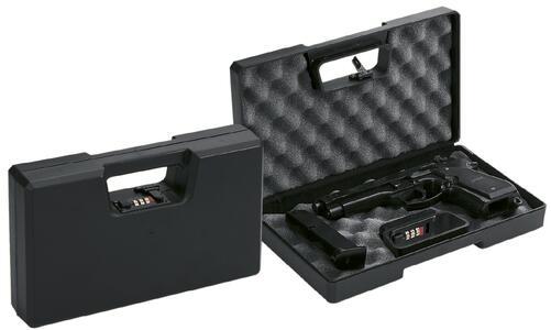 Valigetta in ABS per pistole con spugna bugnata cm.30x17,5x6 con combinazione