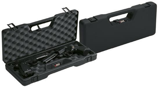 Valigetta in ABS per pistole con spugna bugnata cm.42,5x16x6 con combinazione