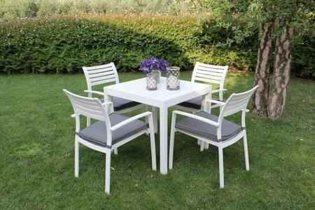 Tavolo da giardino in alluminio CUBANINO misura 80 x 80 colore BIANCO