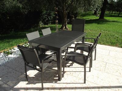 Tavolo da giardino in alluminio CUBANO MINI ALLUNGABILE misura 150/210 X 90 ANTRACITE