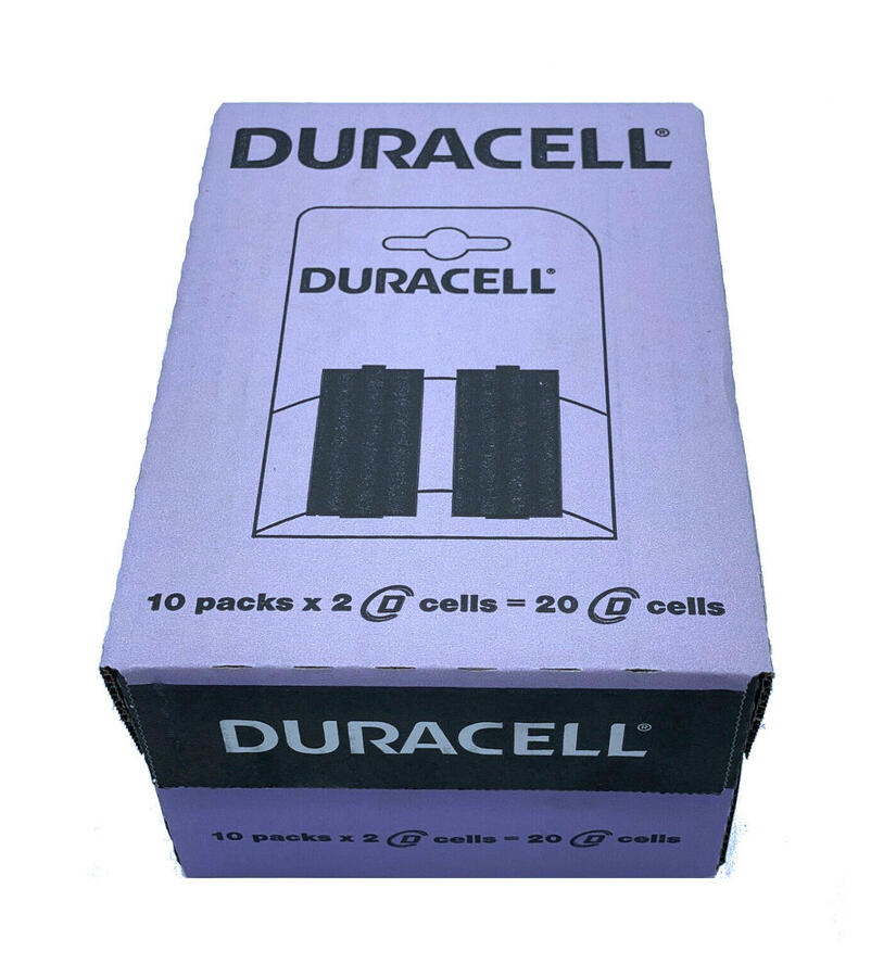 Batteria a torcia tipo D - 20 pcs in 10 blister - Duracell LR20/MN1300