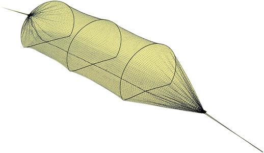 Rete a tunnel per uccelli da richiamo lunghezza mt.2