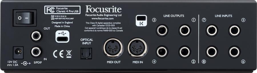 Focusrite Clarett 4 Pre USB