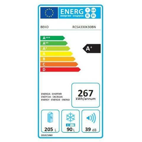 BEKO Frigorifero Combinato RCSA330K30BN Classe A+ Capacità 330 Litri Colore Sabbia