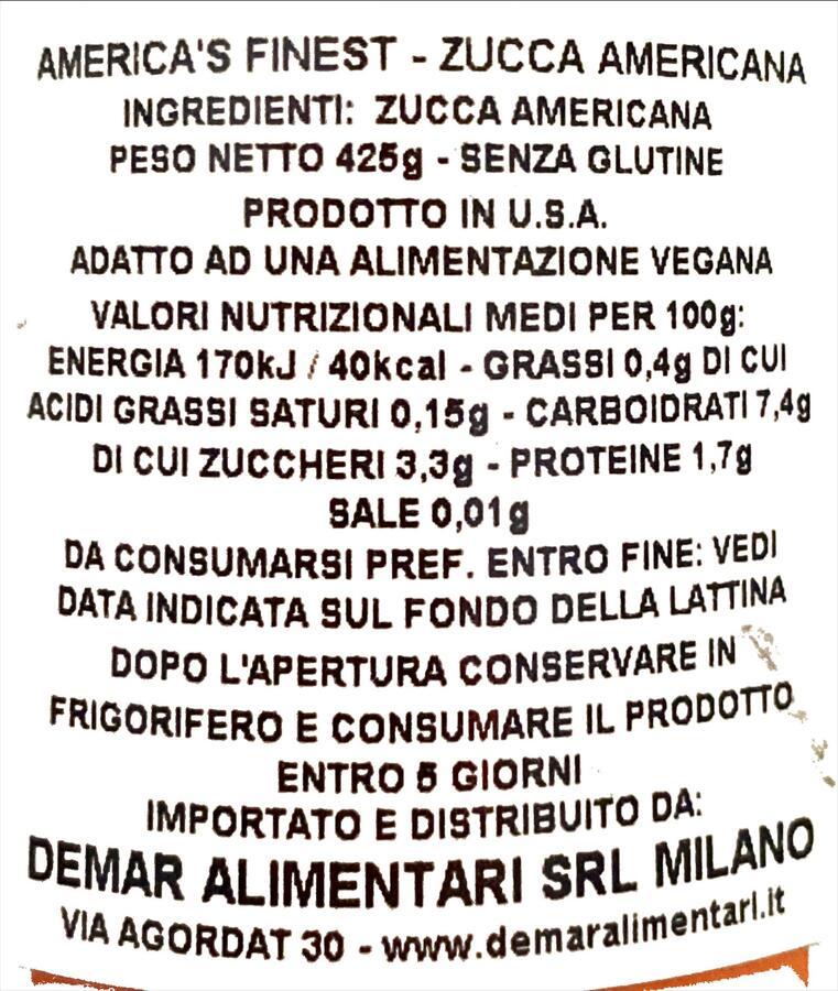 PUMPKIN MIX POLPA DI ZUCCA 425GR