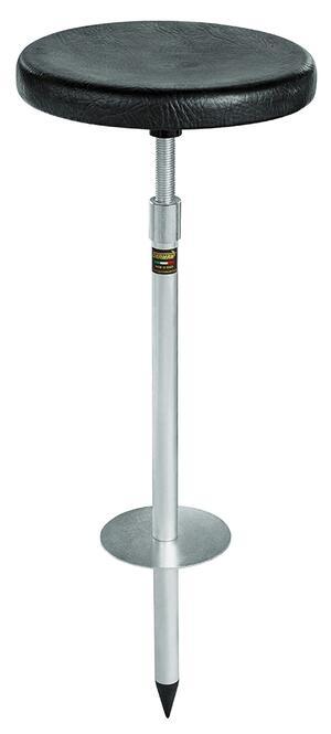 Seggiolino telescopico in alluminio regolabile sedile plastica in abs imbottito