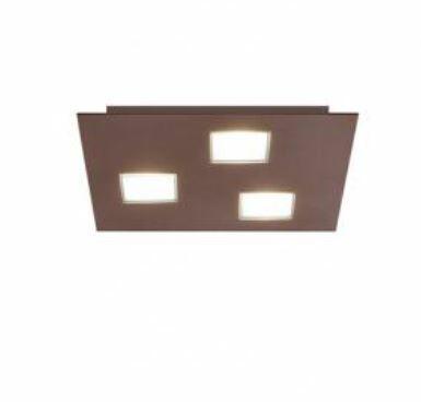 Lampada a Soffitto Quarter di Fabbian in Alluminio e Policarbonato, Varie Misure e Finiture - Offerta di Mondo Luce 24