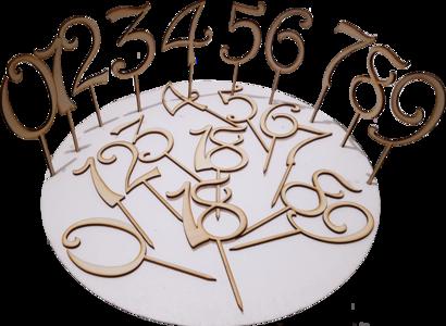 Numero Modello Smart Legno Naturale 9cm\9