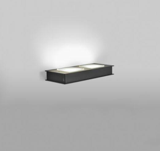 Lampada da Parete Quarter di Fabbian in Alluminio e Policarbonato, Varie Misure e Finiture - Offerta di Mondo Luce 24