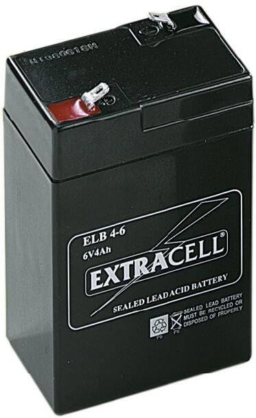 Batteria al piombo ricaricabile 6 volt. - 4 ah