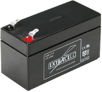 Batteria al piombo ricaricabile 12 volt. - 1,3 ah