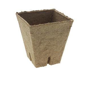 Vaso di Torba Quadrato 6x6 cm