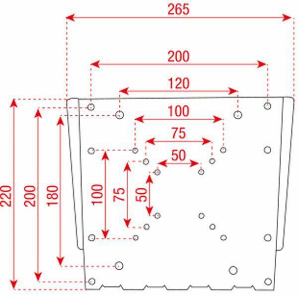 DMT LCD-201L LCD BRACKET FLATMOUNT