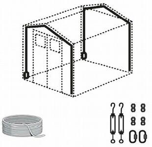 Kit Ancoraggio al suolo per Tutte le Casette Grosfillex UNIVERSALE