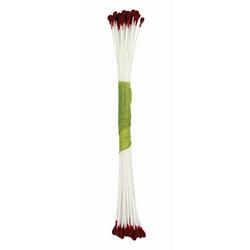 Set 50 pistilli per fiori opachi rosso borgogna (misura large)
