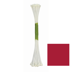 Set 50 pistilli per fiori opachi rosso borgogna (misura small)