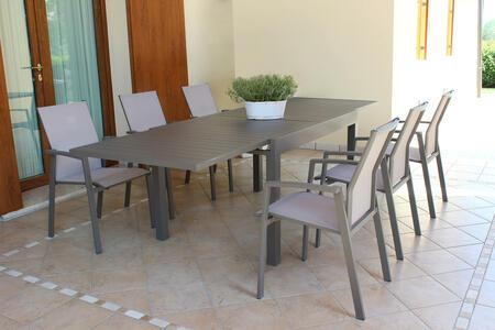 Tavolo da giardino allungabile HAWAII in alluminio TAUPE cm 130 / 270 X 90 H 75