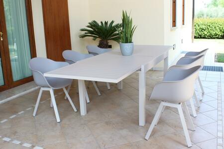 Tavolo da giardino allungabile HAWAII in alluminio TORTORA cm 130 / 270 X 90 H 75