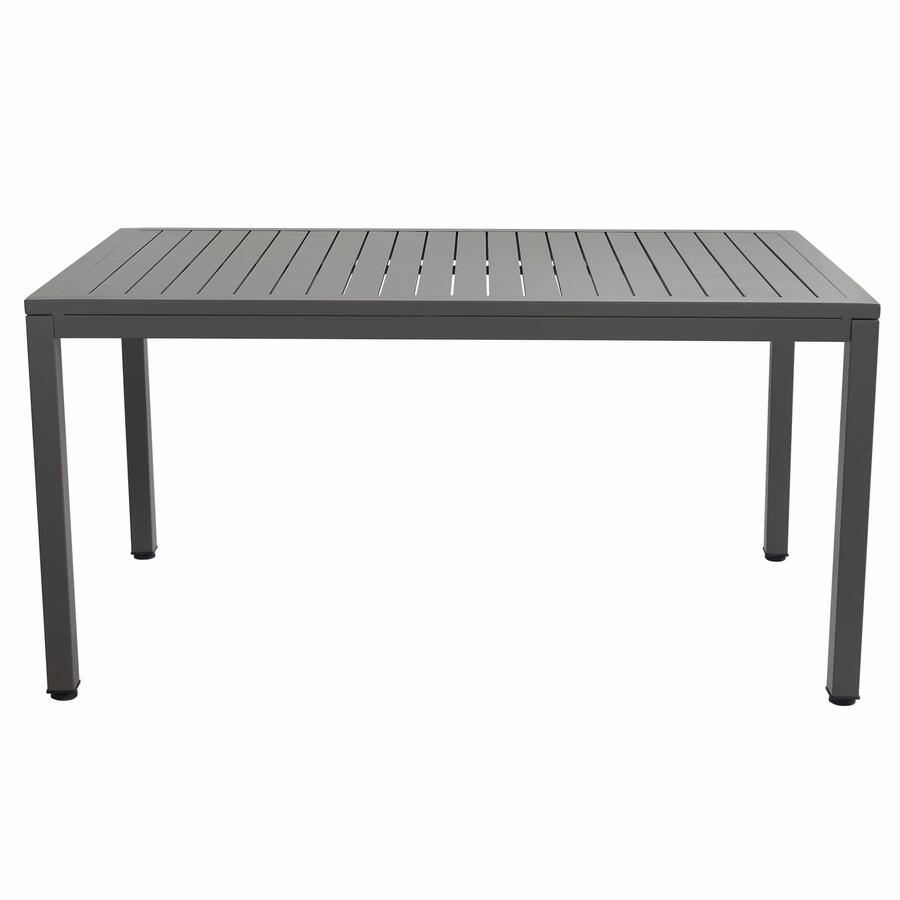 Tavolo da giardino SOAVE in alluminio 150 x 90 colore TOUPE