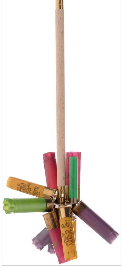 Raccogli bossoli in legno in 4 elementi