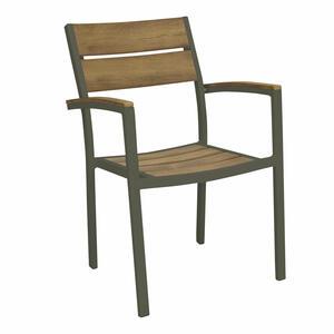 Sedia da giardino in alluminio TAUPE CAYMANO polywood legno